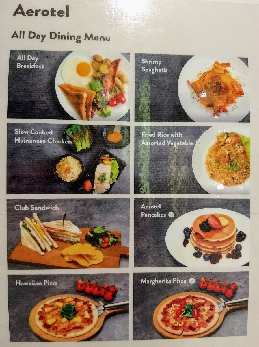 Choose your made-to-order free meal from this picture menu.