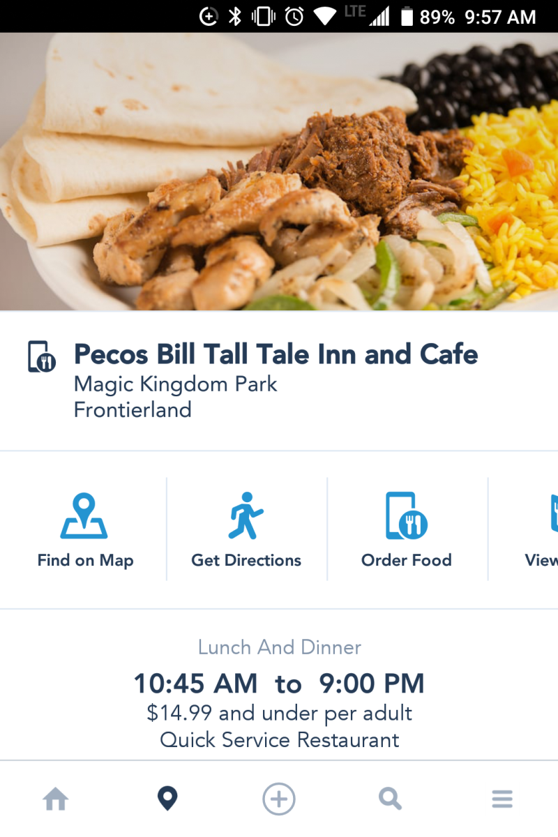 Use the My Disney Experience App to skip the lines at quick service dining locations through Mobile Ordering.