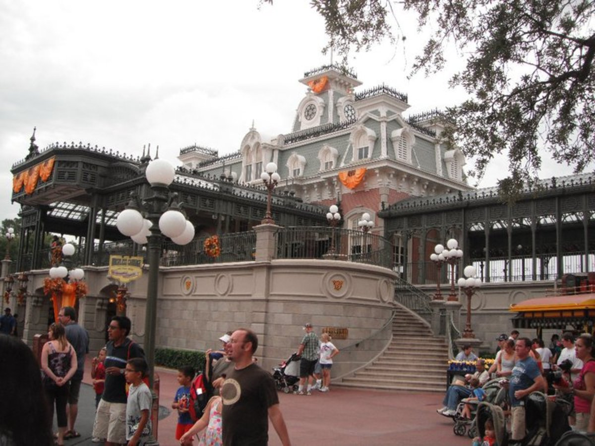The Main Street U.S.A. Railroad Station is the perfect spot to disembark and exit the park for the day.