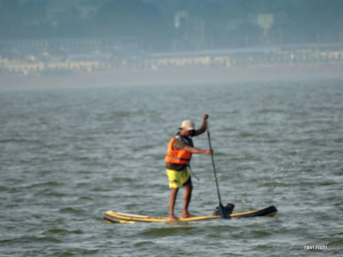 Paddle boating at Kolavai Lake