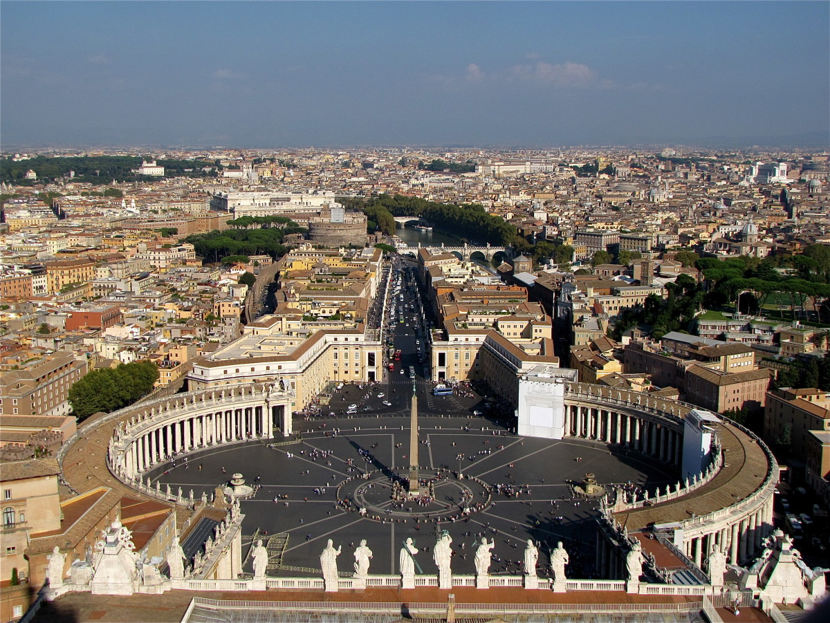 View from the Cupola of St Peters Basilica