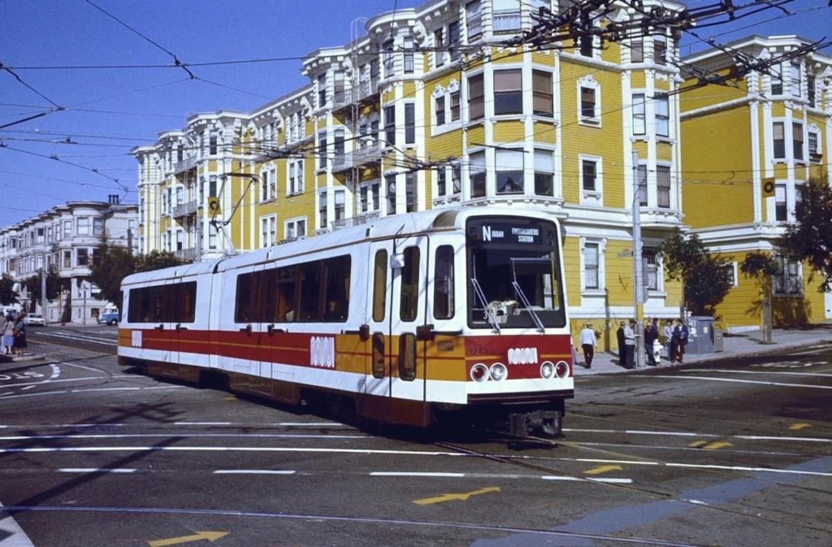 Streets of San Francisco and an old Muni train, circa 1980s