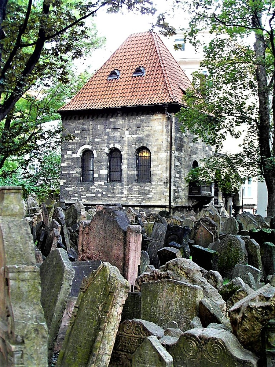 View of the Ceremonial Hall from the Old Jewish Cemetery.