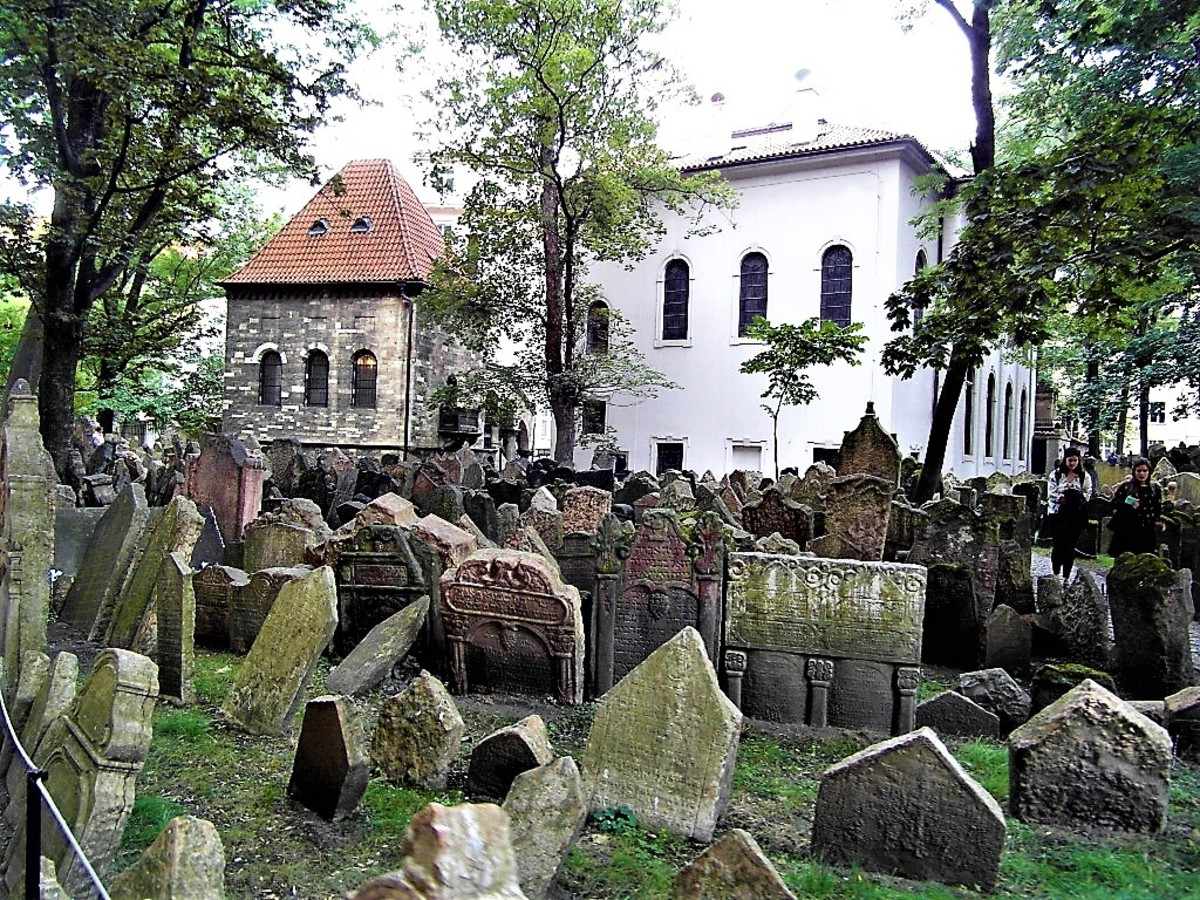 Ceremonial Hall and Klausen Synagogue by the Old Jewish Cemetery.