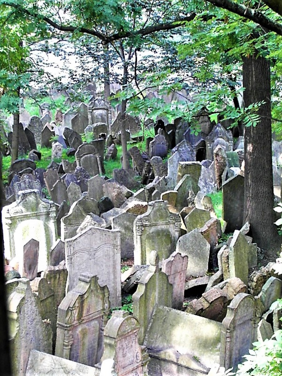 View of the Old Jewish Cemetery from the Ceremonial Hall.