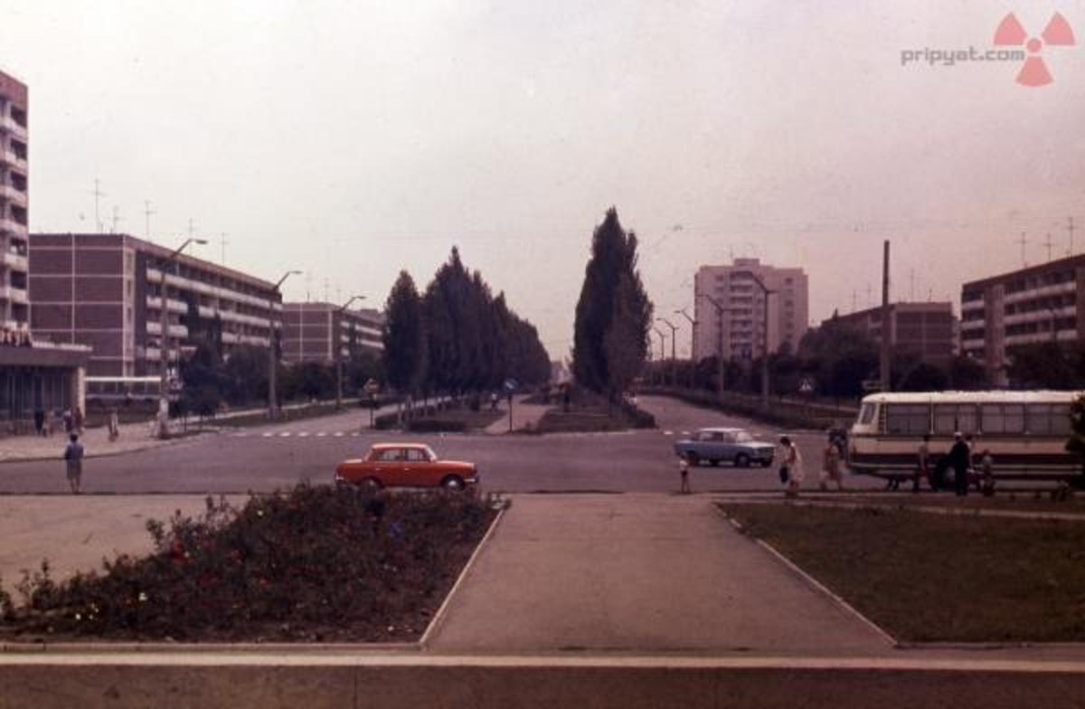Photo of Pripyat before the evacuation Pripyat Lenina Avenue