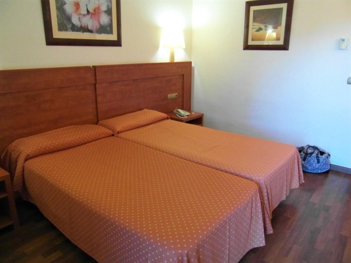 Spanish twin beds.