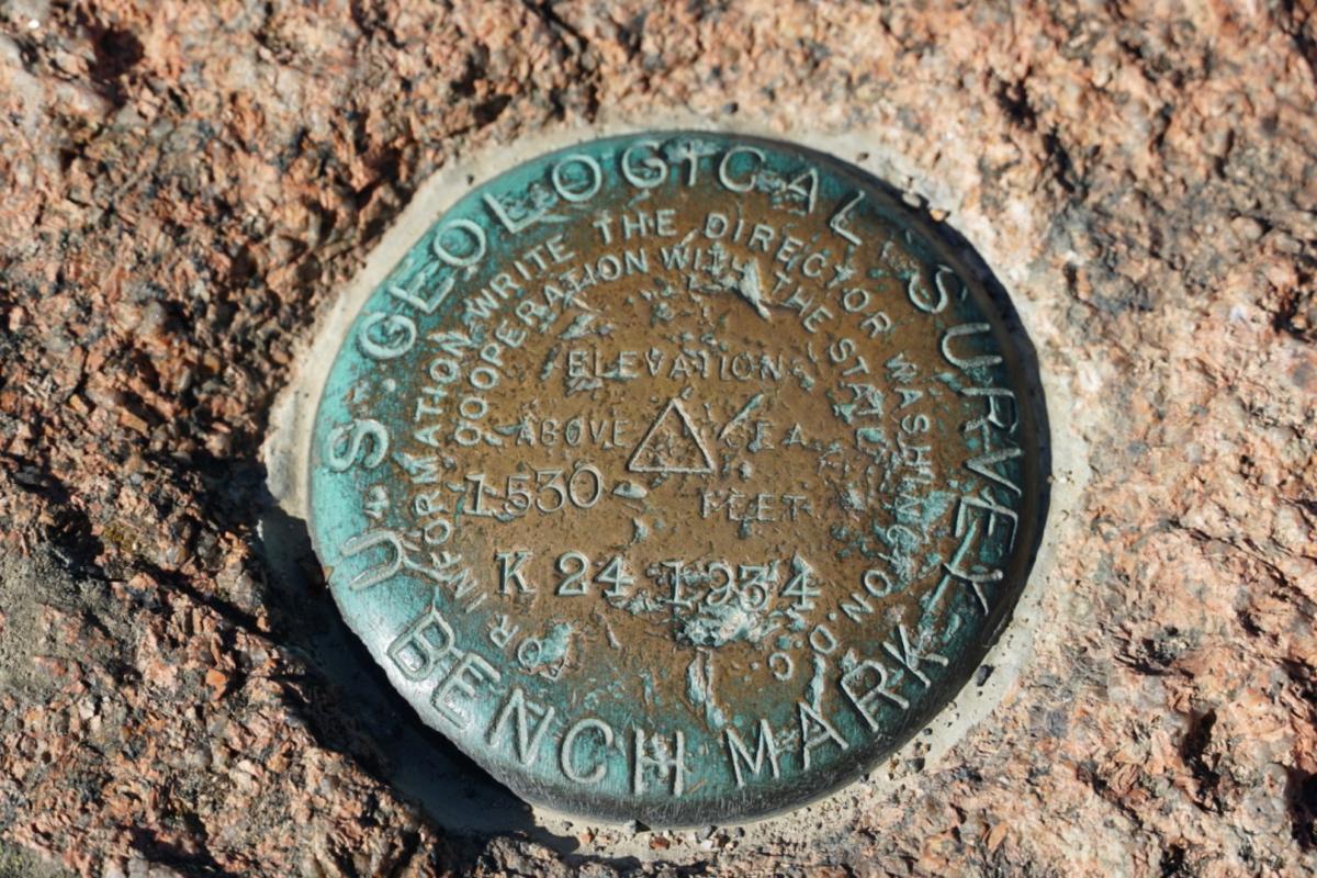 Cadillac Mountain Summit Marker