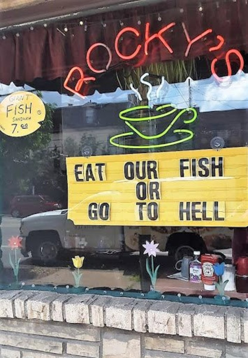 They're not messing around with their fish sandwiches!