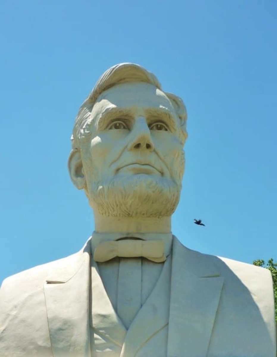 Closeup of Abraham Lincoln