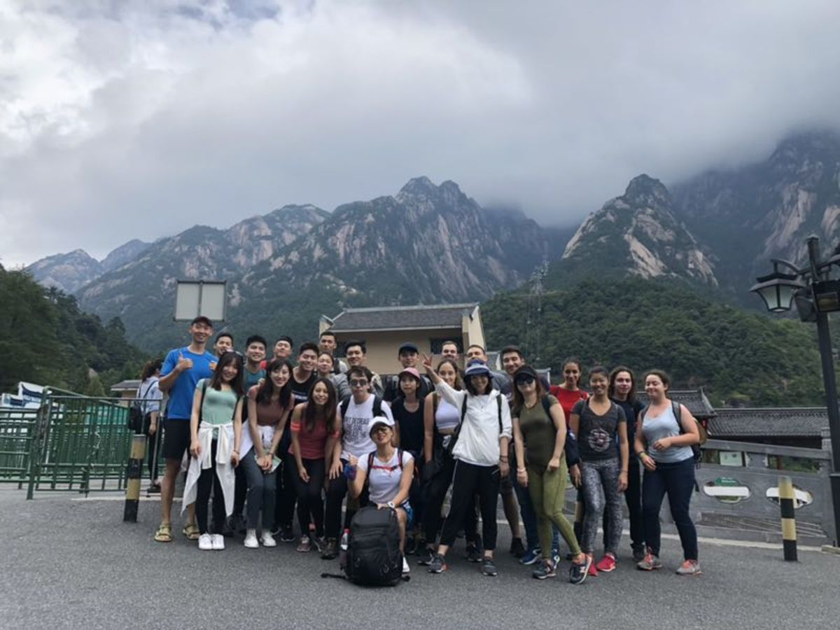 International travelers joined the group with OK Deal Travel in Shanghai.