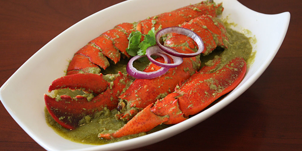 Lobster in Green Paste