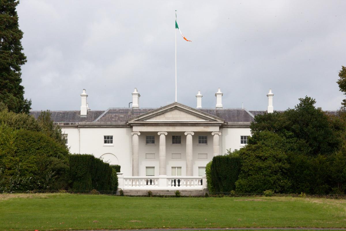 Áras an Uachtaráin in Dublin, Ireland