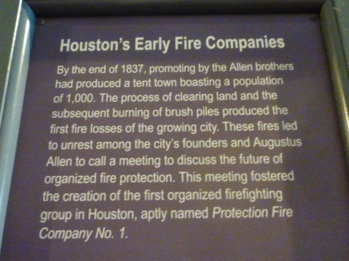 Written material inside the Fire Museum of Houston