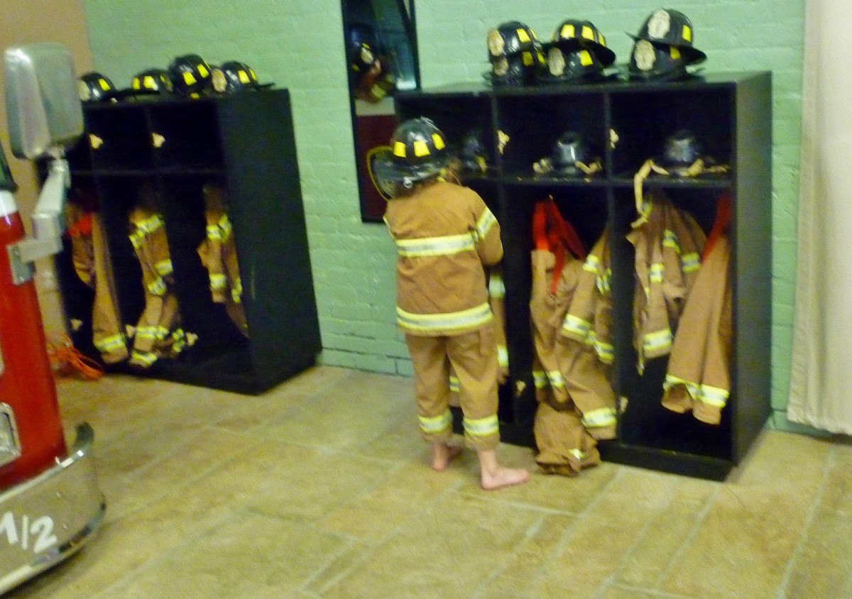 Dressing up as a firefighter