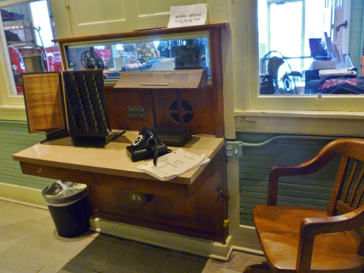 Fire Museum of Houston desk exhibit