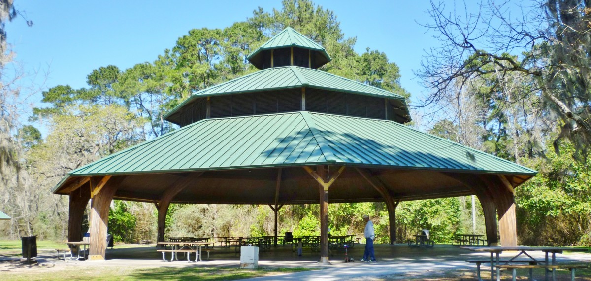 Huge BBQ Pavilion at the edge of the lake