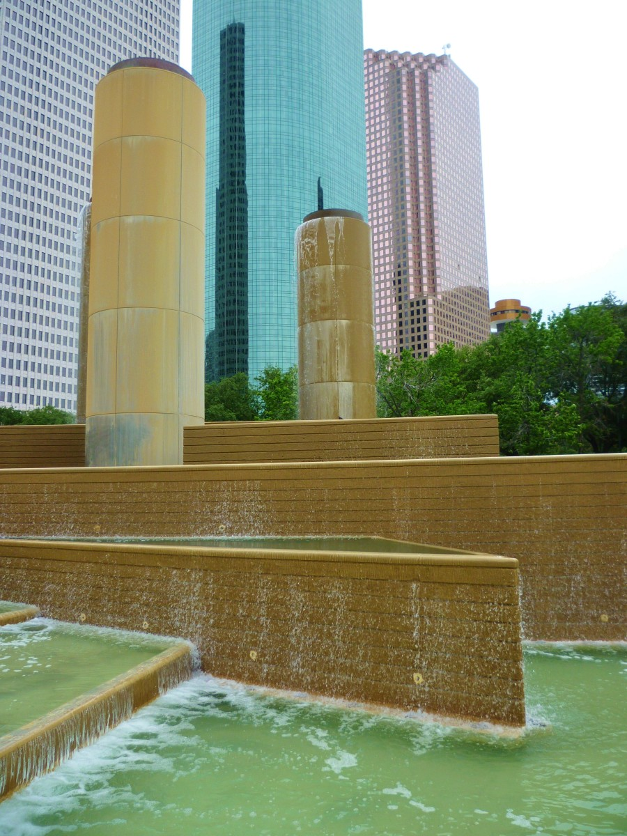 Tranquillity Park in Downtown Houston