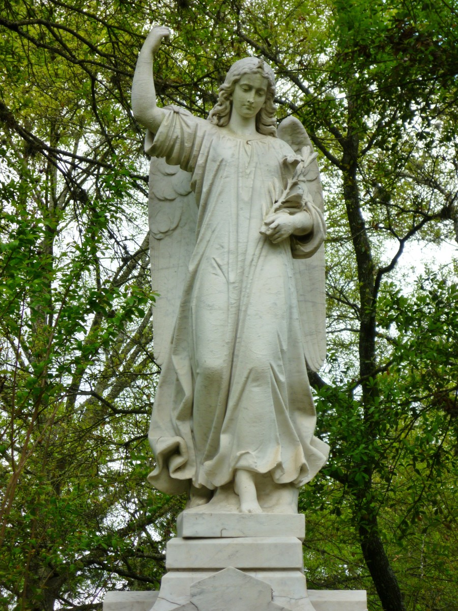 One of many angel monuments