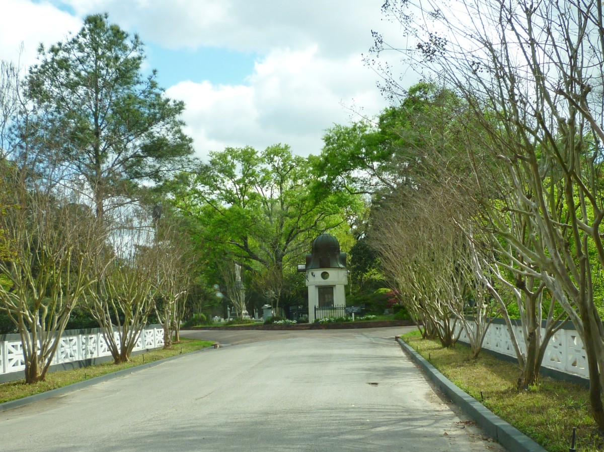 Entry street into Glenwood Cemetery