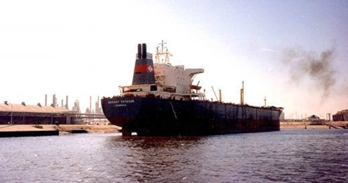 Large Ships and Barges viewed in the Houston Ship Channel
