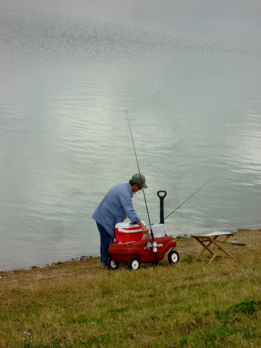 Fisherman at Goforth Park