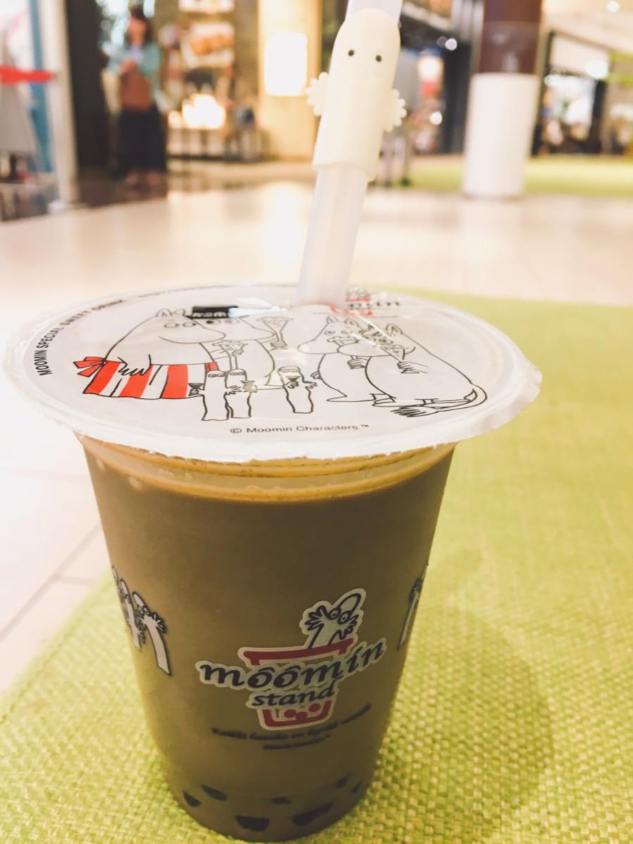 Hojicha flavoured tapioca tea