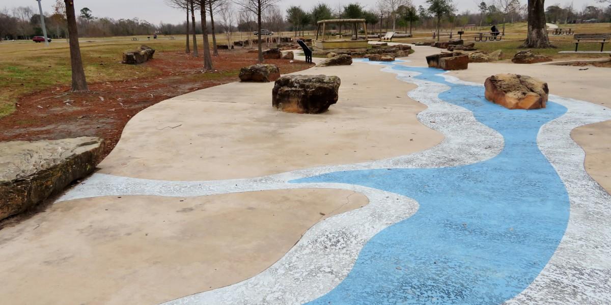 "Concrete ""waterway."""