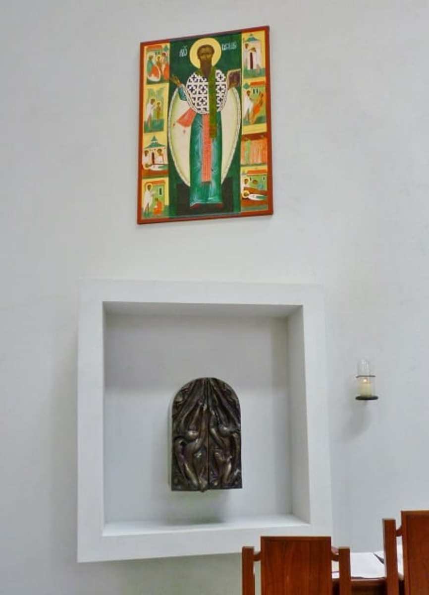 Interior of St. Basil's Chapel with icon & tabernacle
