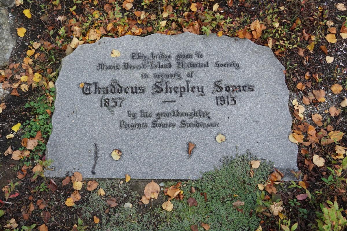 Dedicated to Thaddeus Shepley Somes