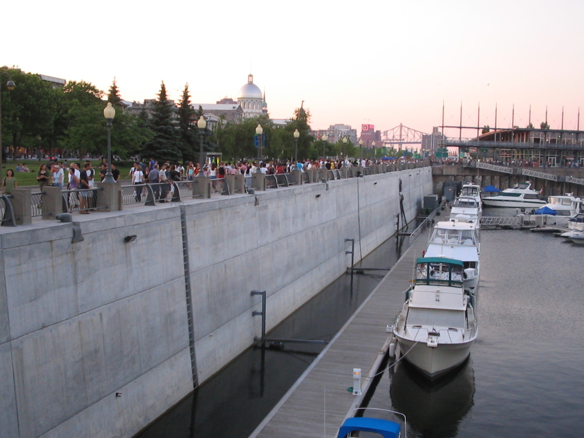 Boats Near Old Town Montréal, Canada