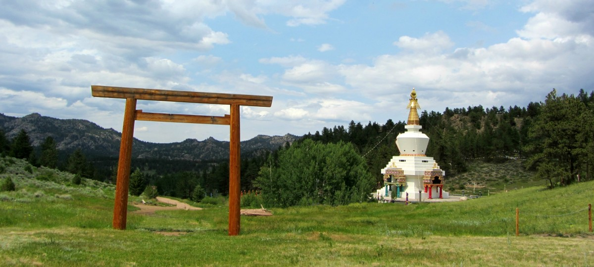Torii Gate and stupa at the Shambhala Mountain Center