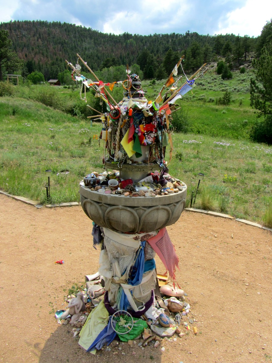 Offerings left at the Shambala Mountain Center
