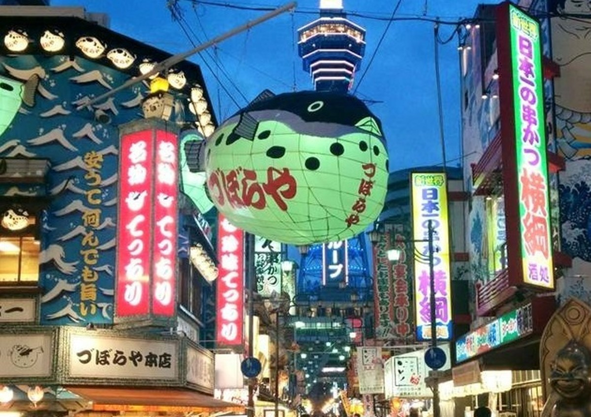 The tourist hub of Shin-sekai, Osaka.