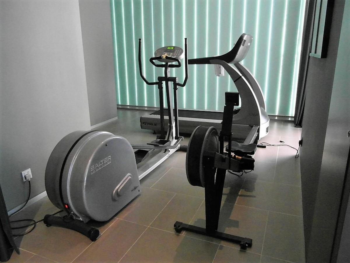Mini gym.