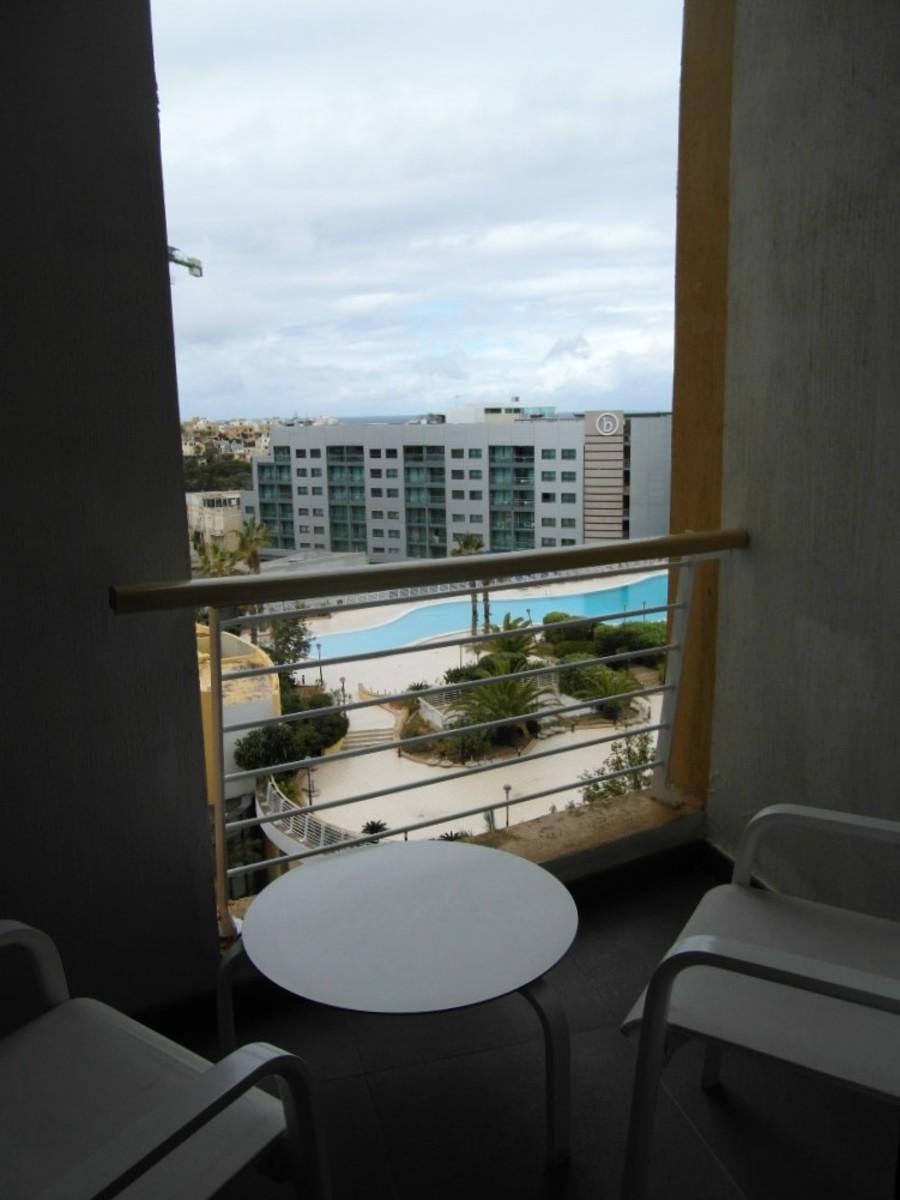 A pool view.