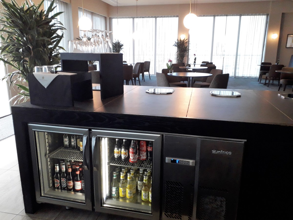 Club lounge refreshments.