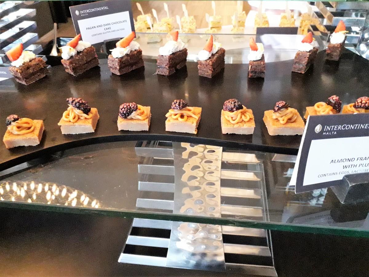 Cake selection.