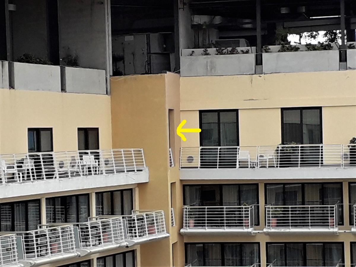 Spot the balcony of room 1512!