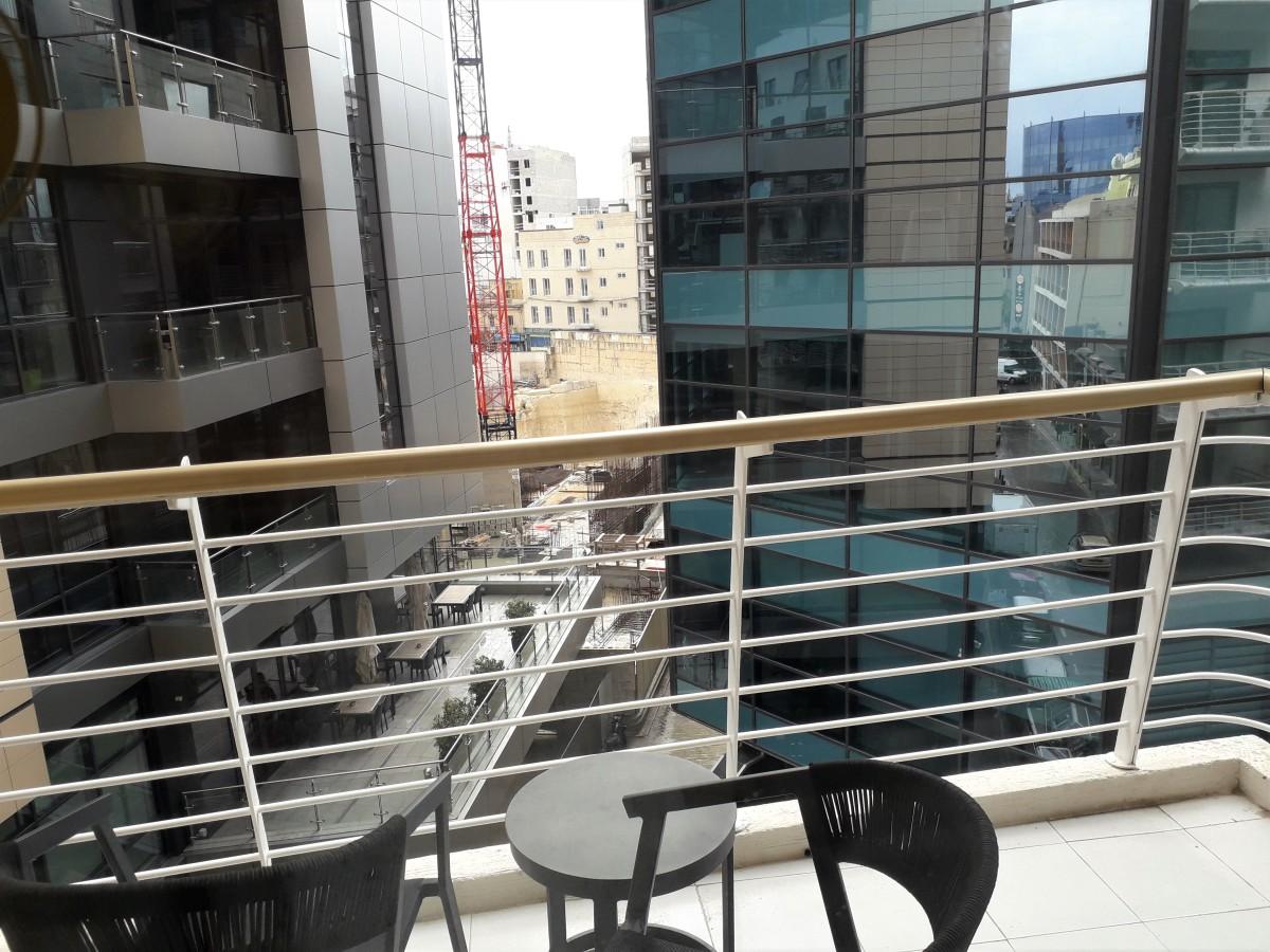 Pleasant balcony view.