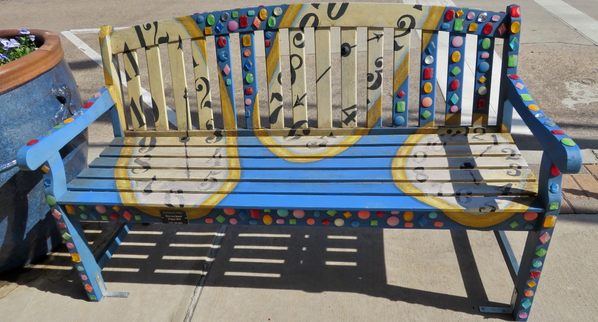 Sponsor: RAA Art Bench. Title: Project 2016. Artist: Sue Zelko