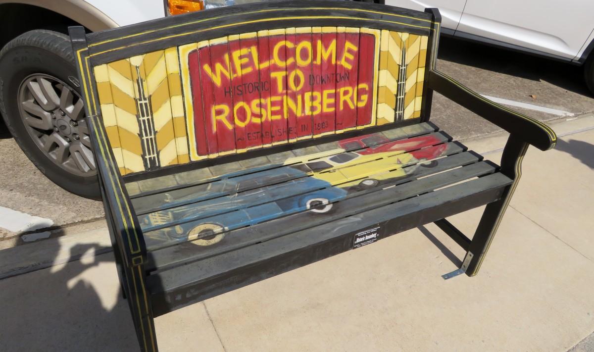 Sponsor: Vincent Regina Morales. Title: Historic Rosenberg. Artist: Suzanne Syvertson
