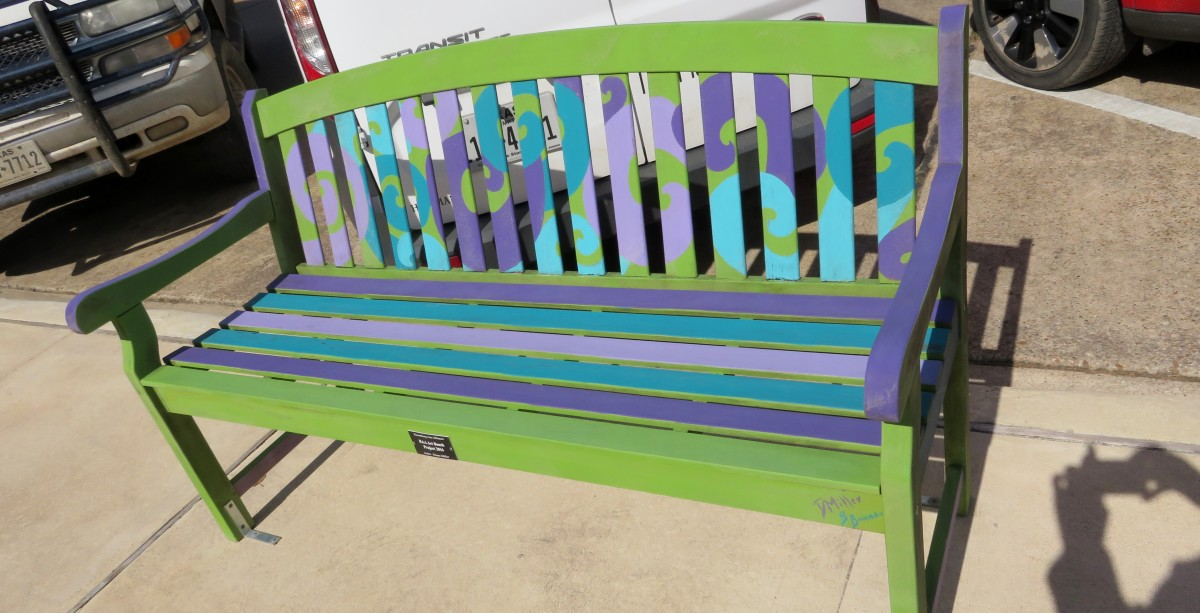 Sponsor: RAA Art Bench. Title: Project 2016. Artist: Diane Miller