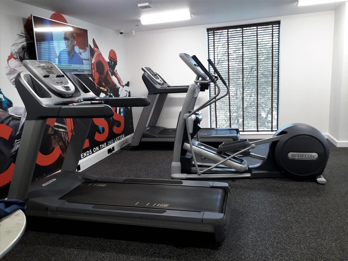 Treadmills and cross trainer.