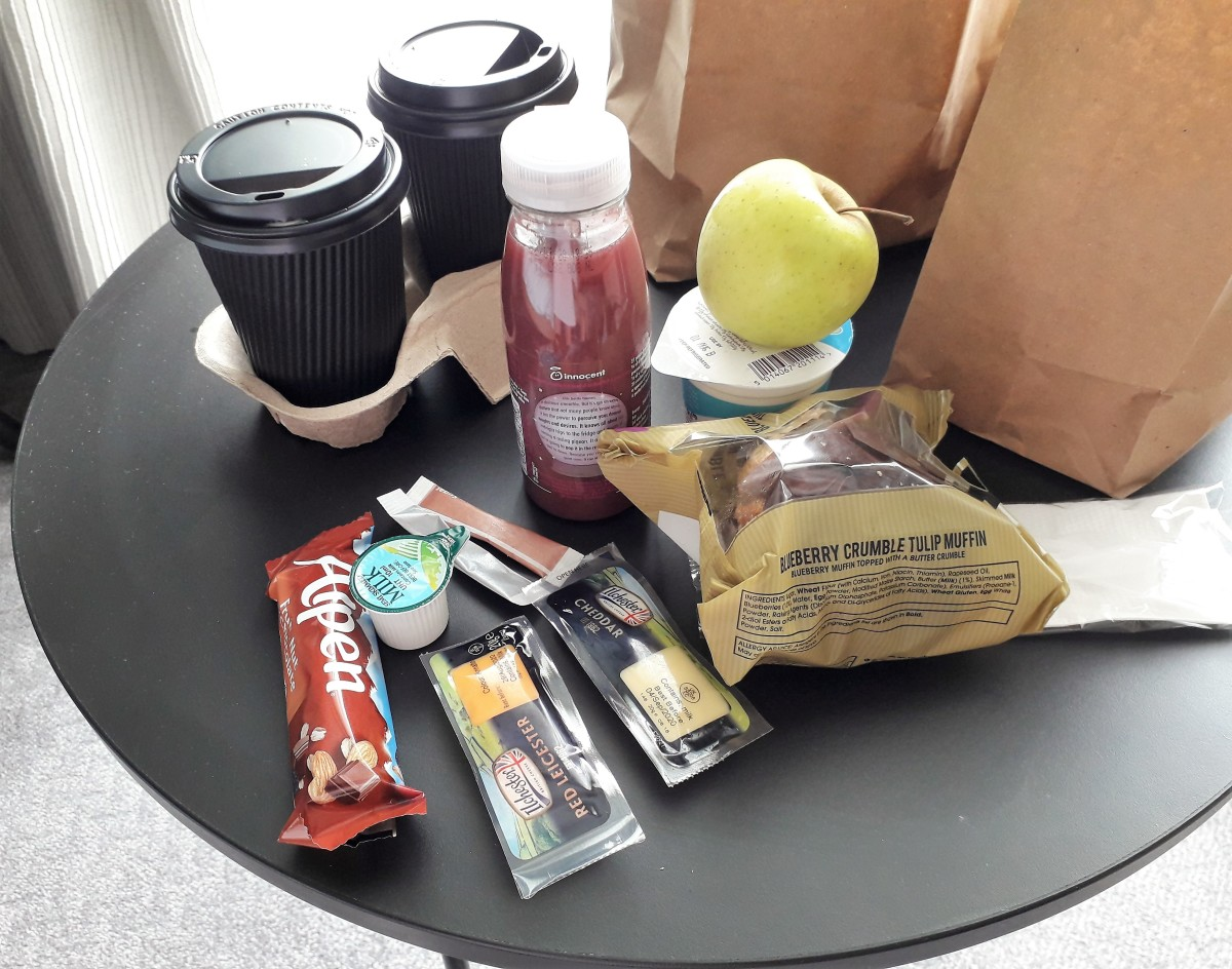 The joys of breakfast in a bag second stay around.