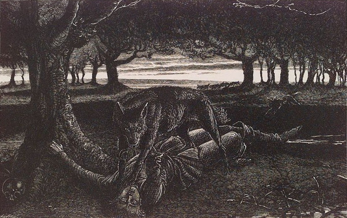 Werewolves have been depicted as fearsome creatures that prey on humans during a full moon.