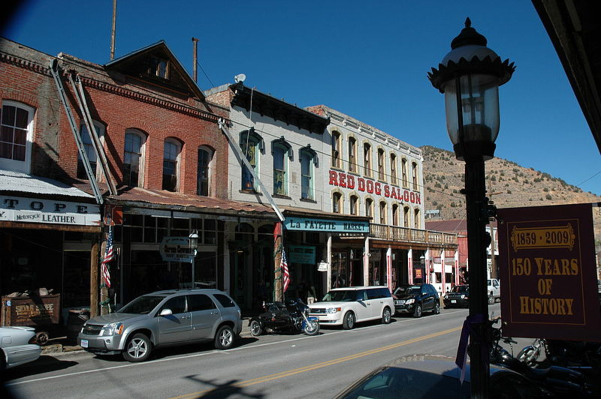 Virginia City main street in October 2009.