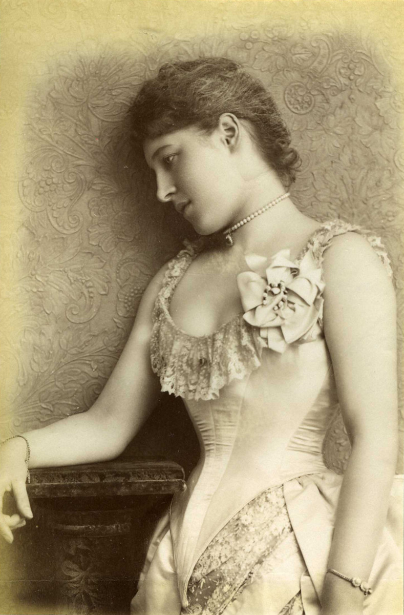 Actress and socialite Lillie Langtry photographed by William Downey in 1885.