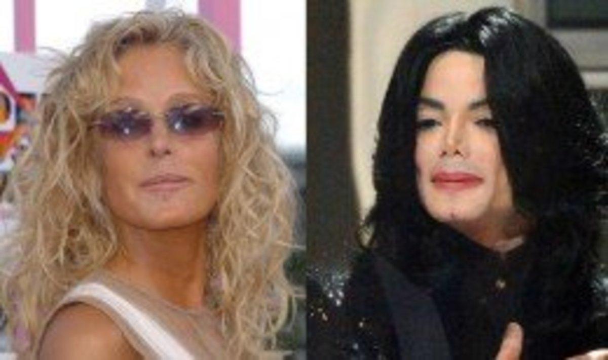 Farrah Fawcett and Michael Jackson