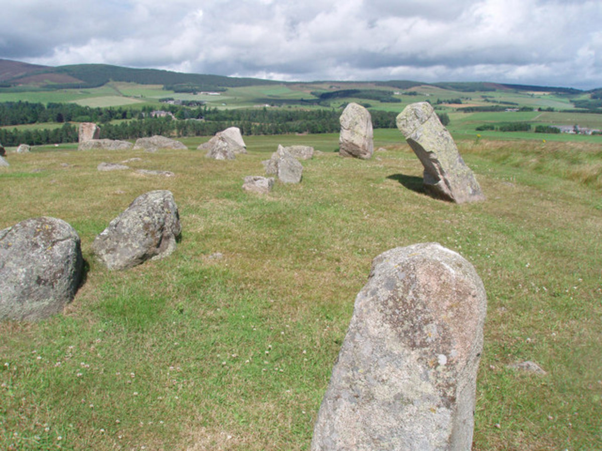 Tomnaverie Stone Circle, Tarlan, Aberdeenshire
